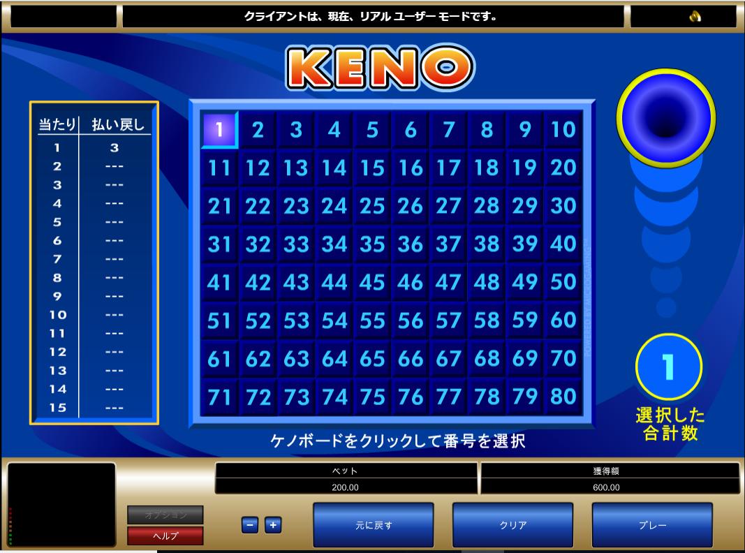 キノの数字選択の説明